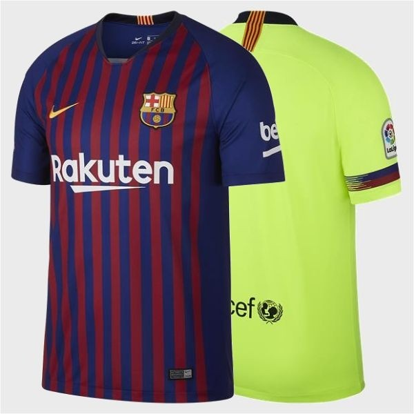Camiseta Camisa Nike FC Barcelona 2018 2019 Futebol Stadium Home ... 745faa1109738