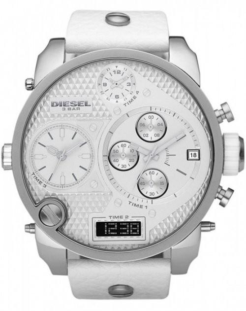 ae50cf10099 Relógio Cronógrafo DIESEL DZ7194 Oversize White Branco Ghost XXL ...