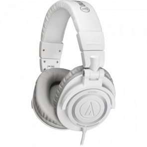 Fone Audio-Technica ATH-M50 Professional DJ Studio Monitor Headphones - White