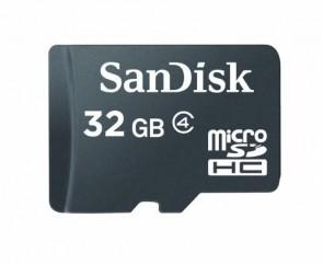 Cartão de Memoria MicroSD SanDisk 32gb Sdhc Class4 - Frete Grátis
