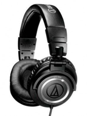 Fone Audio-Technica ATH-M50 Professional DJ Studio Monitor Headphones - Preto