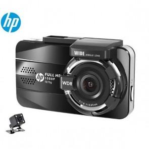 HP F870G 3.0'' LCD Lente Dupla 1080P Full HD Gravador DVR Carro GPS Embutido