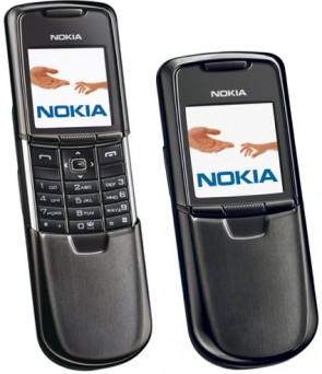 Nokia 8800 Preto Deslizante Bluetooth GSM- Desbloqueado - Desbloqueado